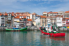 Ships in Lekeitio. Bizkaia (Spain Royalty Free Stock Photos