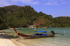Ships, Loh Dalum Bay, Phi Phi, Thailand Stock Images