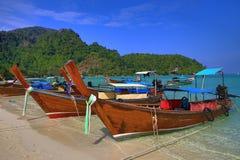 Ships, Loh Dalum Bay, Phi Phi, Thailand Stock Image