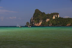 Ships, Loh Dalum Bay, Phi Phi, Thailand Royalty Free Stock Images