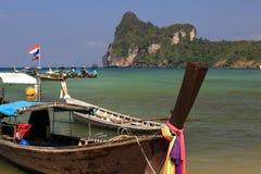 Ships, Loh Dalum Bay, Phi Phi, Thailand Stock Photography