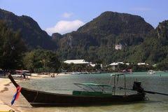 Ships, Loh Dalum Bay, Phi Phi, Thailand Stock Photo
