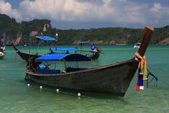 Ships, Loh Dalum Bay, Phi Phi, Thailand Stock Photos
