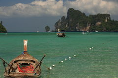 Ships, Loh Dalum Bay, Phi Phi, Thailand Royalty Free Stock Photography
