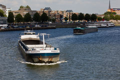Ships on the Maas Royalty Free Stock Images