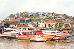 Ships in Manado Stock Images