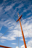 Ships Mast. Bright orange ships mast close up Stock Images