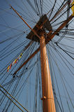 Ships Mast looking up Stock Image