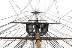 Ships mast and rigging Royalty Free Stock Photos