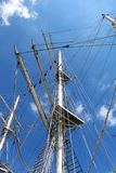 Ships mast and sails Stock Photography