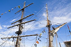 Ships masts Royalty Free Stock Photo