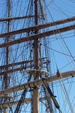 Ships Masts. Sailing ships masts royalty free stock image