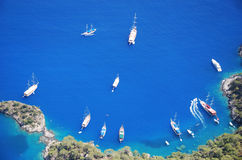 Ships in Mediterranean Royalty Free Stock Images