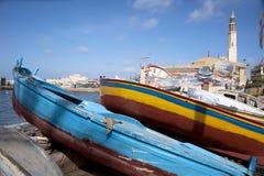 Ships beside Mediterranean Sea. In Alexandria Royalty Free Stock Photo