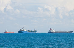 Ships in Mediterranean sea near Cyprus Stock Photography