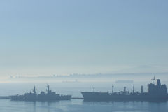 Ships in the Mist Royalty Free Stock Photography