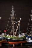 Ships modelo en una tienda de regalos fotos de archivo libres de regalías