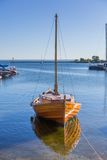 Ships moored in port Royalty Free Stock Images