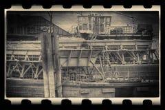 Ships moored at a shipyard Stock Images