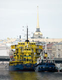 The ships at a mooring. In St.-Petersburg Stock Photos