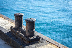 Ships mooring bollard. Stock Photography