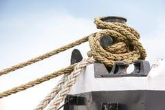 Free Ships Mooring Bollard With Ropes Stock Photography - 30869362