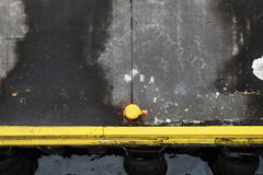 Ships mooring equipment, yellow port bollard Royalty Free Stock Photos