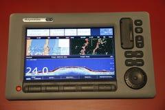 Ships navigation radar screen. The ships navigation radar screen stock photography