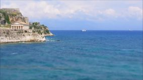 Ships and ocean. The video of ships in the Mediterranean Sea. Timelapse, Tilt-Shift stock video footage