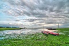 Free Ships On The Lake Bank (HDR) Stock Photography - 20595232