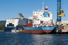 Ships in Oslo port Royalty Free Stock Photos