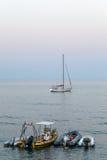 Ships på havet Fotografering för Bildbyråer
