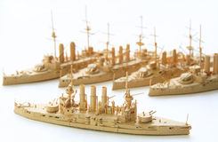 Ships from a paper. (hobby Royalty Free Stock Image