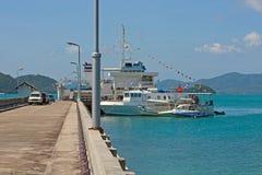 Ships at  pier Royalty Free Stock Photos