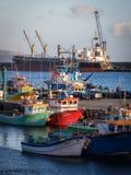 Ships in Ponta Delgada royalty free stock images