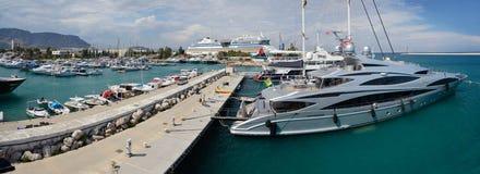 Ships in port Akdeniz, Antalya Stock Image