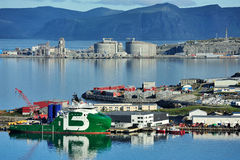 Ships in the port Hammerfest, Norway Stock Photography