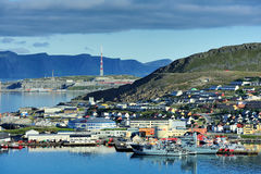 Ships in the port Hammerfest, Norway Royalty Free Stock Photography