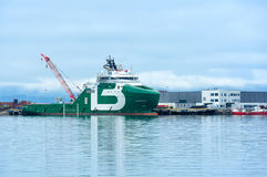 Ships in the port Hammerfest, Norway Royalty Free Stock Images