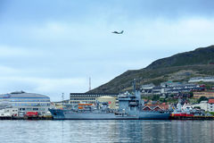 Ships in the port Hammerfest, Norway Stock Image
