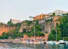 Ships in Port of Marina Grande at Sorrento. Tyrrhenian sea, Amalfi coast, Italy Stock Photography