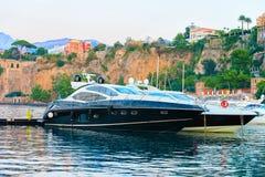Ships in Port of Marina Grande in Sorrento. Tyrrhenian sea, Amalfi coast, Italy Royalty Free Stock Photography