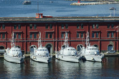 Ships in the port of Naples. This picture shows some ships in the port of Naples, Italy royalty free stock images