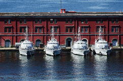 Ships in the port of Naples. This picture shows some ships  in the port of Naples, Italy Stock Images