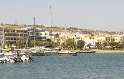 Ships in the port of Rethymnon.Krete Stock Photography