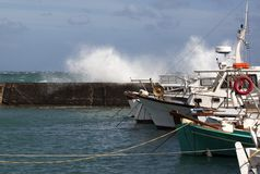 Port in storm royalty free stock photography