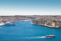 Ships in the port of Valetta Malta. Ships and yachts in the historic port of Valetta Malta Stock Photography