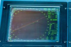 A Ships Radar Screen Display. A Cruise Ship Radar Screen royalty free stock photos