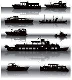 Ships with reflexions Royalty Free Stock Photo