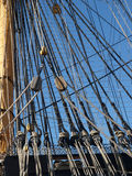 Ships rigging. On HMS Victory Portsmouth England Stock Photos